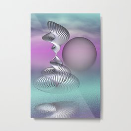 spirals and clouds -2- Metal Print