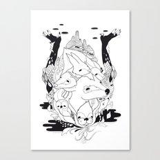 Animal's hat Canvas Print