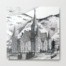 Provo City Center Temple Metal Print
