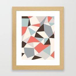 Mod Hues Tris Framed Art Print