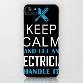 Electrician volt energy electronics iPhone Case