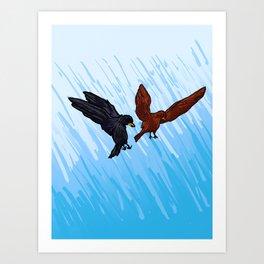 Blackbird Attack Art Print