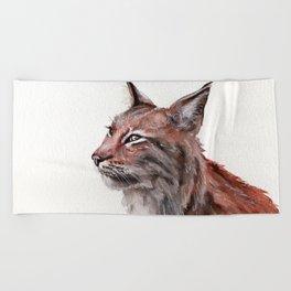Lynx Beach Towel