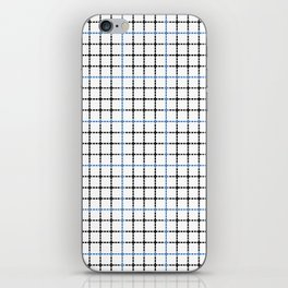 Dotted Grid Weave Blue Black iPhone Skin