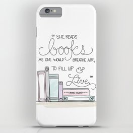 She Reads Books iPhone Case