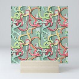 Snakes pattern 002 Mini Art Print