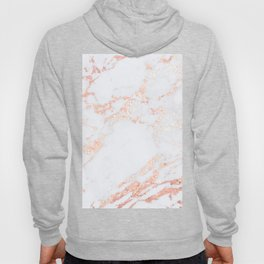Rose Gold Blush Marble Hoody