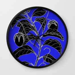 Western Nightshade (also know as Bush Tomato ) - Solanum chippendolei or Solanum coactilferum Wall Clock