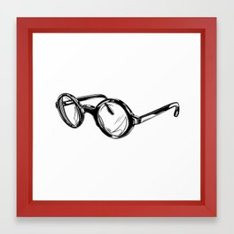 Circle Glasses Framed Art Print