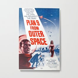Vintage poster - Plan 9 from Outer Space Metal Print