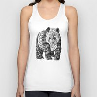 panda Tank Tops featuring Panda by BIOWORKZ