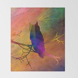 ap071 Bird on branch Throw Blanket