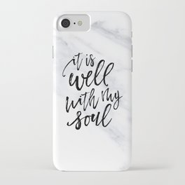 Well With My Soul - Marble iPhone Case