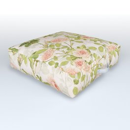 Vintage & Shabby Chic - Summer Rose Garden Outdoor Floor Cushion
