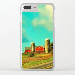 Red Barn, Blue Sky Clear iPhone Case