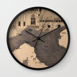 Mappa dell'Italia Centrale Wall Clock