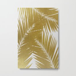 Palm Leaf Gold III Metal Print