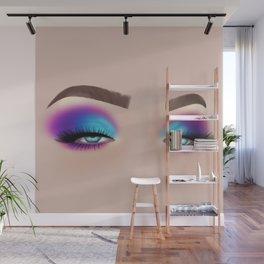 Colourful Eyeshadow Make-Up Look Wall Mural