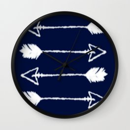 shibori arrows Wall Clock