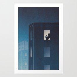 Blues at Sunrise Art Print