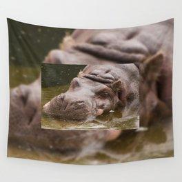 Huge bored Hippopotamus Wall Tapestry