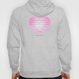Inspirational Love Bible Verse Valentine's Day Calligraphy Hoody