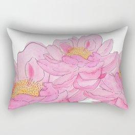 Pink Peonies Rectangular Pillow