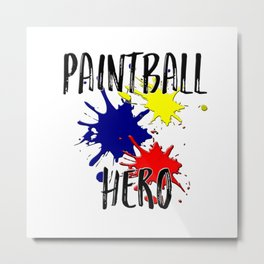 Paintball Hero Metal Print