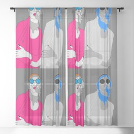 life's a party part 2 Sheer Curtain