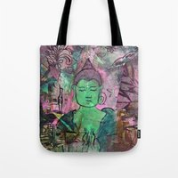 queer Tote Bags featuring Queer Buddha ~ Truth II by Jamila