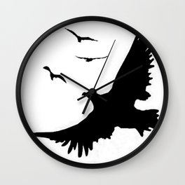 ORIGINAL DESIGN OF FLYING BLACK EAGLES ART Wall Clock