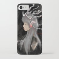 gray iPhone & iPod Cases featuring Gray by Norenne