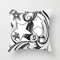starry night Throw Pillows featuring Starry starry night by OhMyDodd Designs