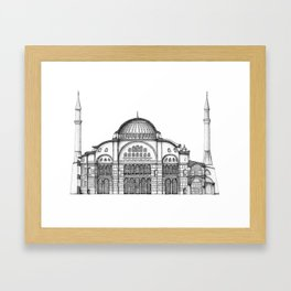 Section of Hagia Sophia - Istanbul Framed Art Print