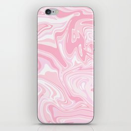 Blush pink & white marble iPhone Skin