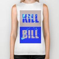 kill bill Biker Tanks featuring Kill Bill by Melis Kalpakçıoğlu