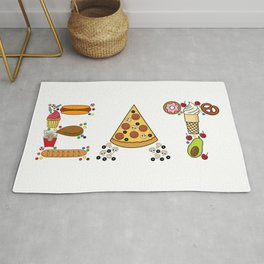 EAT-Foodie, Food Lover, Junk Food Junkie Rug