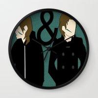 tegan and sara Wall Clocks featuring tegan & sara by lizbee