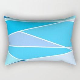 Broken Blue Hues Rectangular Pillow