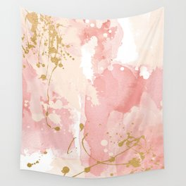 Abstract pink painting Wall Tapestry