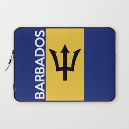 Barbados country flag name text Laptop Sleeve