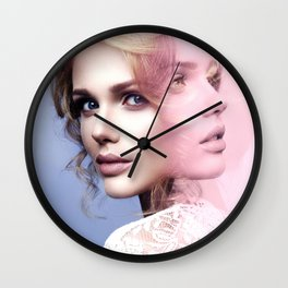 Two faces Wall Clock