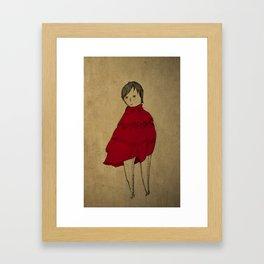 red robe Framed Art Print