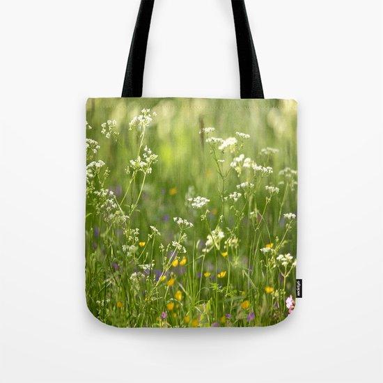 Green Summer Meadow  Tote Bag