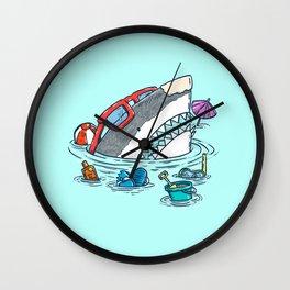 Beach Party Shark Wall Clock