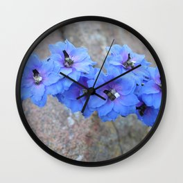 Blue Flowers in Marquette Wall Clock