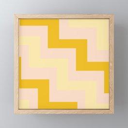 Chevron diagonal 90s Framed Mini Art Print