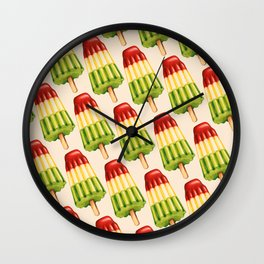 Popsicle Pattern - TropiPop Wall Clock