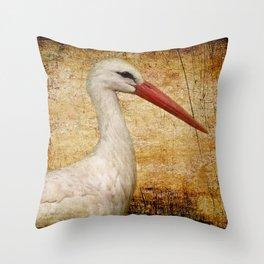 Mr. Stork Throw Pillow