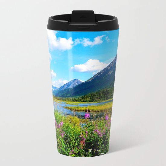 God's Country - Summer in Alaska Metal Travel Mug